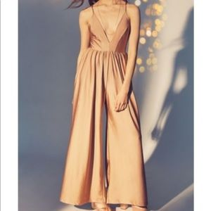 UO Deep V shimmering Gia Jumpsuit /Pant Suit small